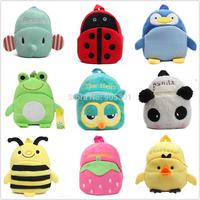 C Baby Kids Cute Cartoon Owl Panda Animal Plush Travel Snacks Bag School Bag Backpack Gifts