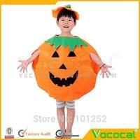 Cute Halloween Pumpkin Masquerade Costume Decoration With Hat,Children Pumpkin Set,Halloween Costumes For Kids,Free Shipping