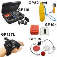 Go pro camera mount Accessories set Storage Carry Case go pro bobber for GoPro HD Hero4 3+ 3 2