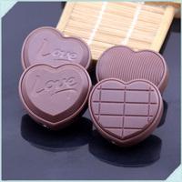5pcs/lot Metal Love Chocolate Shape Portable Inflatable Smoking Butane Gas Flame Cigarette Lighter For Gifts