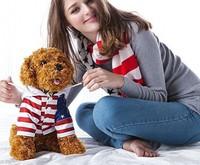 30cm Stufffed Animals & Plush Toys Teddy Dog clothes Poodle Dog Puppy Doll Simulation Models 30cm/40cm