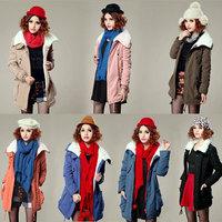 2014 Women Winter Warm Coats Women Wool Slim Zipper Wool Coat Winter Jacket Women Fur Women's Coat Jackets New Plus Size S-XL