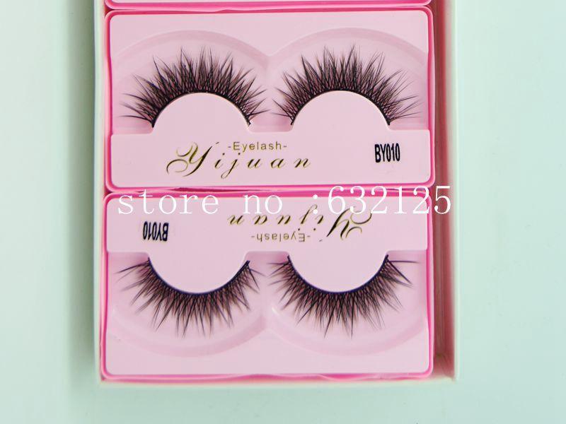 2014 Real False Eyelashes Eyelash Extension Dolly Lashes Thick Black Glaze By005 Paragraph Natural Selling Hot Styles.1.5cm Long(China (Mainland))