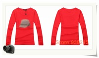 2014  hotsale T-shirt  fashion design long sleeve T-shirt  95% cotton 5% lycra comfortable fabric