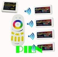 WiFi led controller hub+RGBW RF remote+4pcs group control 2.4G Wireless Controller for rgbw led strip 12V-24V DC Free shipping