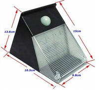 2m-6m senser lamp ABS outdoor patio lamp solar senser rechargeable  12 LED wall lamp with solar panel 30 second once