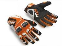 KTM Racetech Racing Motorcycle Bike Carbon Offroad Fiber Leather Full Finger Gloves