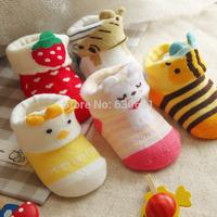 newborns dimensional cartoon combed cotton Baby socks dispensing skid mix sell