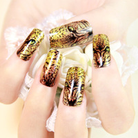 2014 Hot sales sexy Leopard  full cover DIY 3D Nail Art Water Transfer Sticker Decoration ,12set/lot,mix style