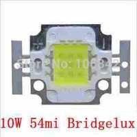 Free Shipping 54mil Bridgelux Chip 10Watt High Power LED 3*3 1000-1200lm 10-12V 800-900mA 10pcs/lot