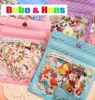 New 70 pcs/pack cute different designs mini style paper seal sticker / Decoration label / Wholesale