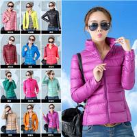 Free shipping  2014 New  Women  down coat  Thin  Short paragraph  Slim  Large yard Down  jacket women's