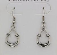 Hot !  Earring, 24 pair  Antique Silver *Teardrop * SP Earrings Antique Silver Fishhook Ear Wire 41x14mm  qw1