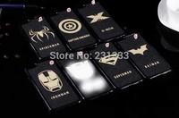 Spider-Man Superman Veneer Gluing X-man Batman Hard Case For iphone 6 4.7 / Plus 5.5 Iron Man Skin Captain America cover 50pcs