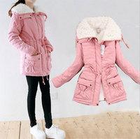 2014 Women Winter Warm Coats Thick Wool Coat Winter Jacket Women Fur Women's Coat Jacket New Plus Size S-XL Coat Parka Overcoat