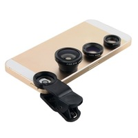 Universal  3 in 1 Fisheye Wide Angle Macro Lens Photo Fish eye Set for HTC iPhone 4S 4 5 5S 5C Universal Samsung