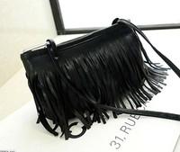 HOT Women Messenger Bag NEW 2014 Fashion Lady Bags swagger bag Tasseled PU Leisure Female bag Free Shipping