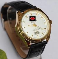 Free shipping the new PU strap sports men's wear women's clothing circular quartz watch  watches