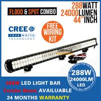 "44"" inch 288W SUV Off-road Pickup Bar Van Car Cree LED Driving Light Combo Beam 4X4 96X3W 12V/24V 4WD led Work Light"