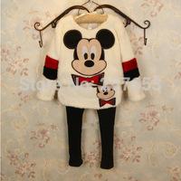 2014 autumn winter new arrival Free shipping  children clothing set  5sets/lot  girls cartoon 2pcs jacket+pant &skirt 2-6years