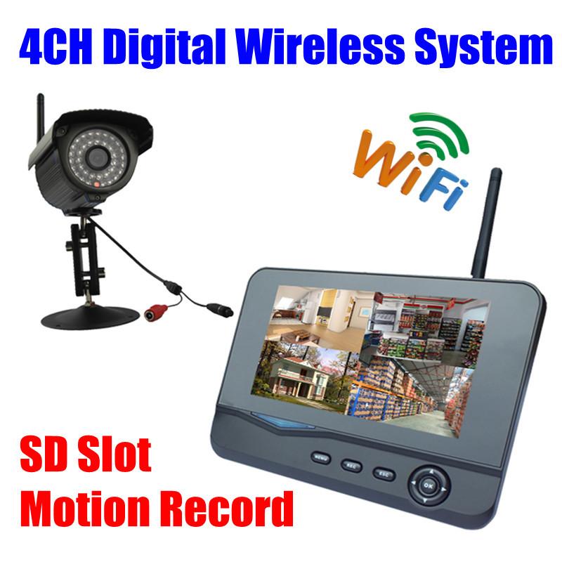 Digital IP66 Infrared IR wifi security Camera Wireless outdoor Video Surveillance System usb DVR kit Monitor sd card recording(China (Mainland))