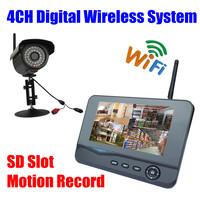 Digital  IP66 Infrared IR wifi security Camera Wireless outdoor Video Surveillance System usb DVR kit Monitor sd card recording