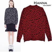2014 Autumn Winter Sweet Heart Pattern Sweater Women New Long Sleeve Pullover Sueter For Woman