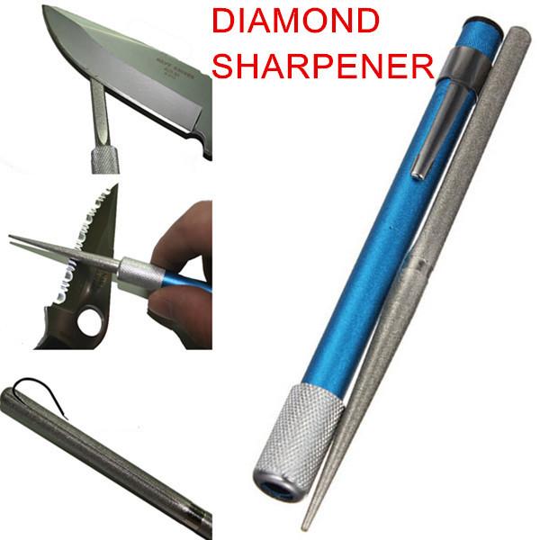 3-in-1 Diamond Blade Pocket Rod Pen Knife Sharpener Grindstone Outdoor Hunting Fish Saw Hook Sharpener Professional Best Selling(China (Mainland))