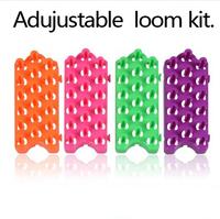 10 Pcs/lot New Free Adjustable Rubber Loom Bands Kit  Weaving Loom Board  Loom Bands Bracelets Making Kit Free shipping