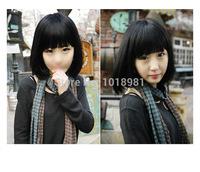 High Quality Hot Sale Korea Style Fashion New Womens Short Straight BOB Hair Lolita Cosplay Costume Wigs  Black/Brown