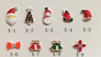 hot ! NEW Nail Art Decorations Rhinestone Christmas Nail Jewelry Decoration For Nails Women Beauty