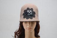 Winter women floral dress hats casual woman fashion fedoras sun hat female warm wool caps design brim fedora cap charm headwear