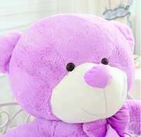New Wholesale  Lovely  lavender purple teddy bear plush toy doll  gift free shipping  size 180cm