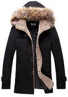 Wholesale new cotton men's long-sleeved hooded windbreaker windbreaker growing single-breasted coat collar men L XL XXL XXXLC028