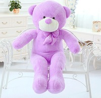 New Wholesale  Lovely  lavender purple teddy bear plush toy doll  gift free shipping  size 140cm