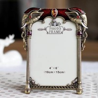 2015 Quadros De Parede Photo Frames for Picture home Decoration Alloy 6inch Elephant Retro Gifts Gift Picture free Shipping