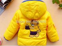 retail NEW! children's hood coats  boy clothing  kids autumn winter boys fasional  jackets  cartoon outerwear bears coat