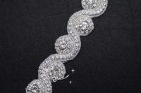 crystal rhinestone beaded trim applique Iron On bridal costume for Garment Accessories x 1 yard