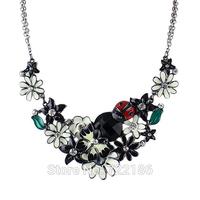 Collares Etnicos Fashion Design Jewelry Enamel Flower Necklace BijouteriasJewelry For Women Collares Vintage