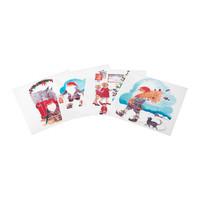 2 pieces/lot Santa Claus pattern 15x15inch plastic place mat