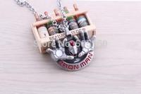 Superhero The Avengers Iron Man high quality Pendant Necklace Men Jewelry Fashion Necklace 897855250 201410HL