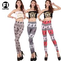 Fancyinn Brand New  Women's Christmas Deer Print Super Elastic Leggings Casual Girl's Skinny Slim Sexy Pant Drop Shipping