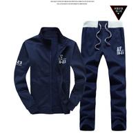 Plus Size M-3XL 2014 Top Brand Men Hoodies Winter Christmas Warm Hooded cotton Suits Hot Sales Men's Leisure Suit