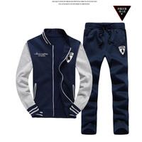 Plus Size M-3XL 2014 Top Brand Men Hoodies Autumn  Warm Hooded cotton Suits Hot Sales Men's Leisure Suit