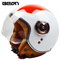 Free shipping!Fashion brand Halley Beon B-110 Motorcycle helmet retro scooter open face helmet vintage 3/4 capacete ECE Approved