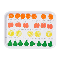 1 piece fruit pattern 11x8 inch laminated paper board tray