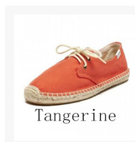 Free shipping High quality, women flat sneakers with lace  , casual canvas shoes  espadrilles  ,6colors
