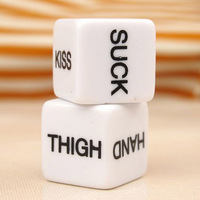 2 PCS White Acrylic Sexy Dice Couple Flirting Fun Toys Action Decider Sex Toy for Lover