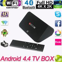 Android 4.4 TV Box Quad Core Smart TV Box Mini PC Streaming Media Player 2GB 16GB Mali-T764 BT 4.0 Dual Wifi XBMC TV Receiver