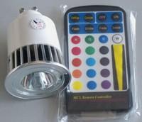 GU10 5W RGB led spot lamp,free shipping